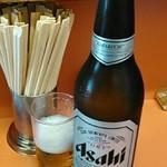 楠知 - 瓶ビールの大瓶600円