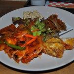 松南食堂 - おふくろ定食の豚のバーベキューソース炒め