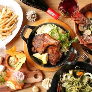 【団体特典付】飲み放題&季節の前菜やお肉料理等歓送迎会プラン