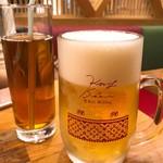 タイストリートフード - 生ビールと烏龍茶