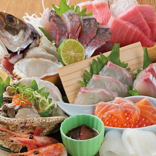 新鮮な魚介をおたのしみください!