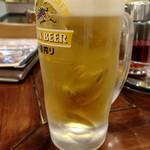 万豚記 - 生ビール
