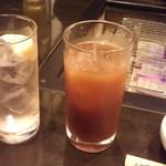 囲炉裏焼肉 鬼29 - ピーチサワー+カシスオレンジ(ノンアル)