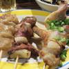 焼鳥 弁慶 - 料理写真:白モツと肝とミソバラ。