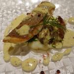 75232670 - 魚介 本日鮮魚と牡蠣のソテー マリナーラソース