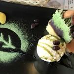 さんぽ道 - 抹茶と栗のモンブラン