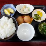 我が家の卵 - ムラの定食500円