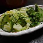仁亭 - ご当地野菜の浅漬け
