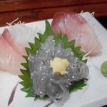 大洗町漁協 かあちゃんの店 - 三点盛り刺身単品500円