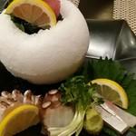 新鮮居酒屋 かずき - 3種盛り合わせ(1種オマケ)
