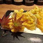 九吾郎ワインテーブル - 白子と野菜のフリット 980円