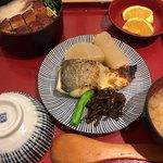 さち福や - すずきの西京焼とうなぎとろろ定食 1,580円