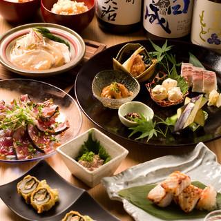 こだわりの日本酒に合わせた飲み放題・お料理付きコース