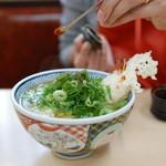 どんどん - 料理写真:天ぷらうどん