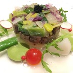 レストラン・フォレスト - 〈冷製オードブル〉牛タンとポロ葱のサラダ