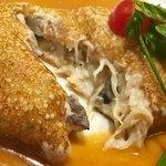 75250504 - 〈温製オードブル〉ズワイ蟹と茸のクレープ包み 蟹のクリームソース