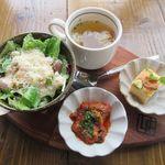 DEAR FROM - サラダ&前菜2種&スープ(2017/10/18撮影)
