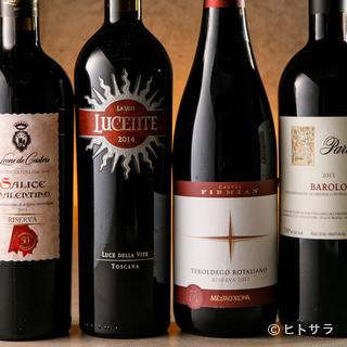一皿ごとのペアリングを試したくなる、イタリア産のワイン