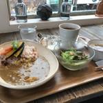 カフェ豆茶 - 豆腐カレーのセットをいただきました(2017.10.24)
