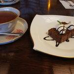 さくらカフェ - 生チョコケーキ+紅茶@750