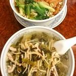 75263693 - 雪菜湯麺と排骨麺