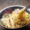 東京油組総本店 - 料理写真:アツアツの麺を醤油ダレと絡めて