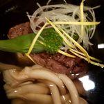 75264310 - 椀 イチボ炙り 玉子豆腐 清まし汁仕立て