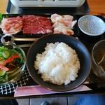 のむら食堂 - 料理写真:昼だけのビッグランチ焼肉セット 850円(税込)