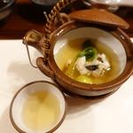 料理旅館  海若の宿 - 汁物 松茸、鱧 土瓶蒸し