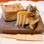 くろぎ - 胡麻豆腐と鮑