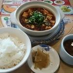 バーミヤン - 料理写真:辛黒麻婆ランチセット