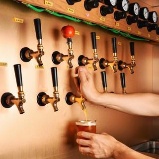 ●約10種類の樽生国産クラフトビール♪