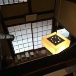 萬御菓子誂處 樫舎 - 2階から見た、1階