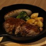 ロコズアイナ - プライムステーキ+バジルソーセージ