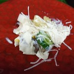 笹乃雪 - 朝顔 御膳の生盛膾 ( 白酢和え  )