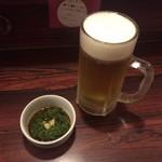 味の王様 - 料理写真:生ビールとお通し