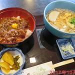 砂場 - 牛炙り焼肉丼セット \1050