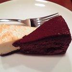 ほしの珈琲 - ケーキ。ハーフアンドハーフ