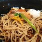 寿作 - 八割蕎麦の冷やしのきのこ蕎麦