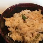 寿作 - 山の御膳の山菜ごはん