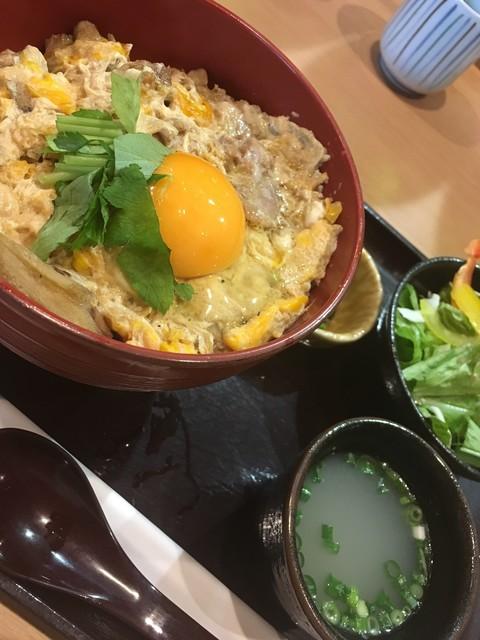根津 鶏はな 両国 江戸NOREN店 - ランチ 東京軍鶏の親子丼(1490円)