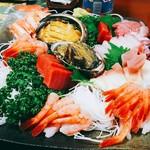 寿司のまつくら - 2017/10  お造りの盛合せのアップ