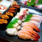 寿司のまつくら - 2017/10  6種類の握り