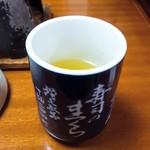 寿司のまつくら - 2017/10  最後にお茶でごちそうさまでした♪