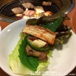 峰家 - 豚バラ+サンチュでサムギョプサル風に♪