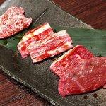 神戸牛 神源 - 上3種盛り(上カルビ、上ロース、特選カルビ)