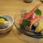 函館 海や - かに味噌と茹でタラバ蟹          by冬の花火