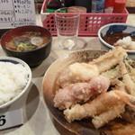 大吉 - 1000円盛り、あさり味噌汁、ご飯小、穴子追加