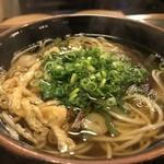 田舎そば みゆき - 抜群に美味しいお出汁の山菜そばです(2017.10.25)
