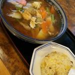 75315321 - 広東麺と半チャーハン